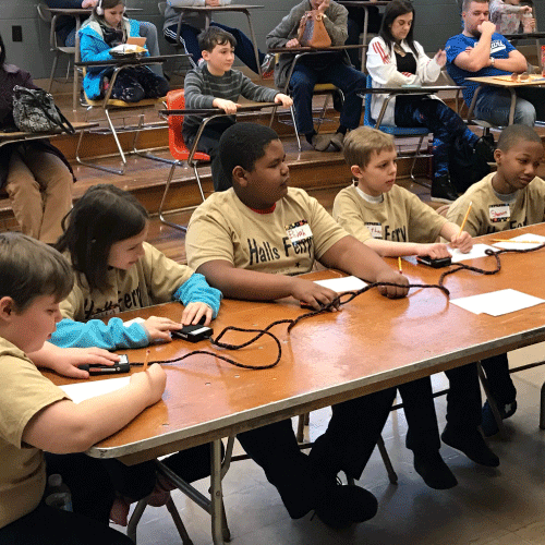 An image of the Halls Ferry Scholar Bowl team.
