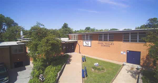 An aerial image of The Innovation School at Cool Valley
