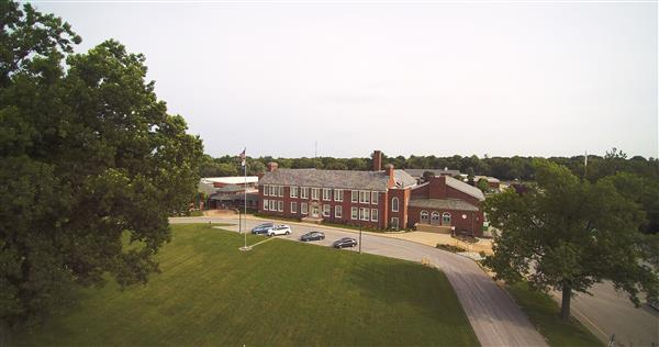 An aerial image of Ferguson Middle School