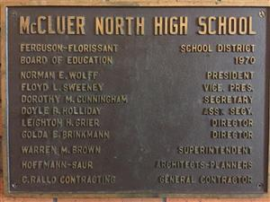 Plaque from Opening of the school