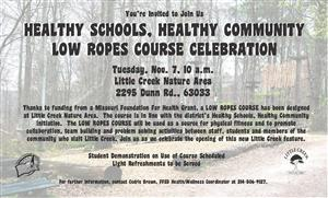 Low Ropes Course Grand Opening